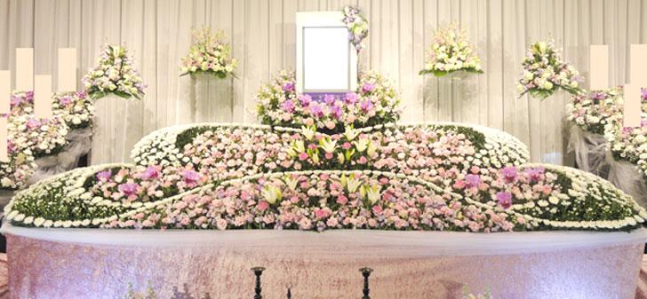 花祭壇例60万円
