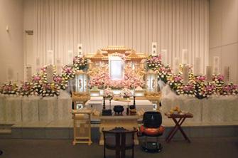 楢原斎場備付白木祭壇