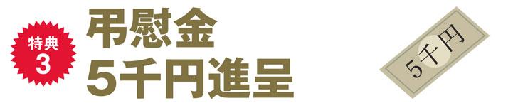 特典3 弔慰金5千円進呈